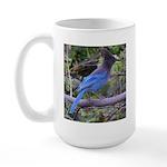 Steller's Jay on Branch Large Mug