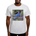 Steller's Jay on Branch Light T-Shirt