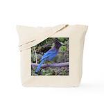 Steller's Jay on Branch Tote Bag