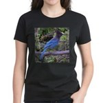 Steller's Jay on Branch Women's Dark T-Shirt