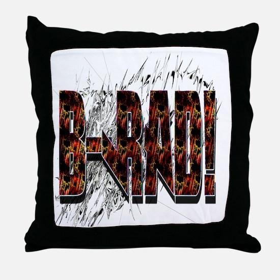Brad/ B-Rad Throw Pillow