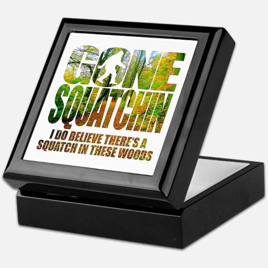 Gone Squatchin *Wooded Path Edition* Keepsake Box