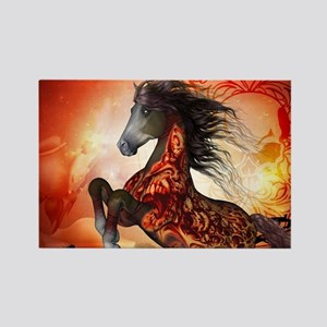 Awesome creepy running horse with skulls Magnets