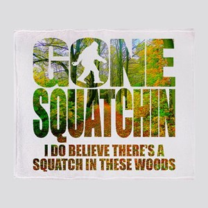 Gone Squatchin *Wooded Path Edition* Throw Blanket