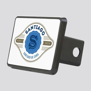 Santiago de Cuba Retro Badge Hitch Cover