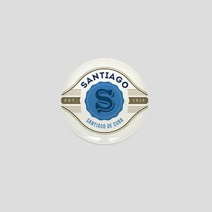 Santiago de Cuba Retro Badge Mini Button