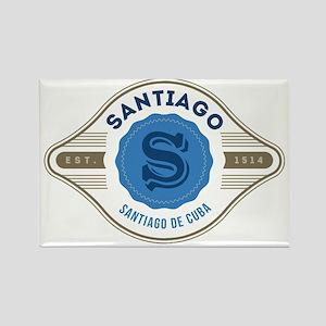 Santiago de Cuba Retro Badge Magnets