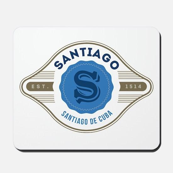 Santiago de Cuba Retro Badge Mousepad