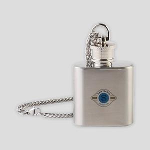 Santiago de Cuba Retro Badge Flask Necklace
