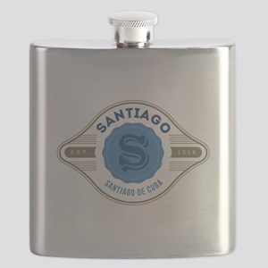 Santiago de Cuba Retro Badge Flask