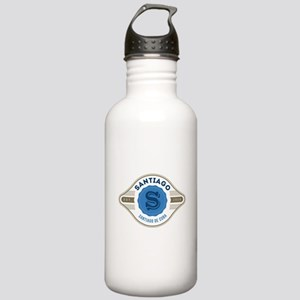 Santiago de Cuba Retro Badge Water Bottle