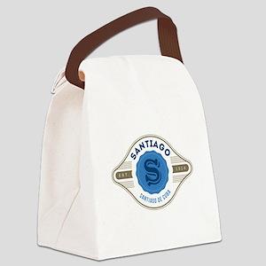 Santiago de Cuba Retro Badge Canvas Lunch Bag