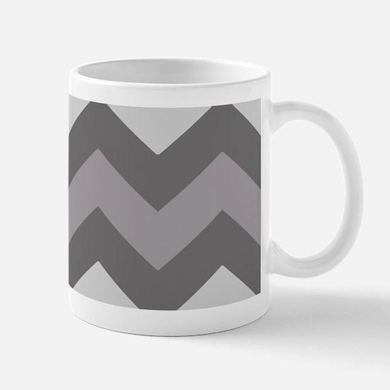 Dark Grey Chevron Mugs