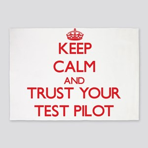 Keep Calm and trust your Test Pilot 5'x7'Area Rug