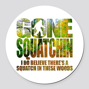 Gone Squatchin *Wooded Path Edition* Round Car Mag