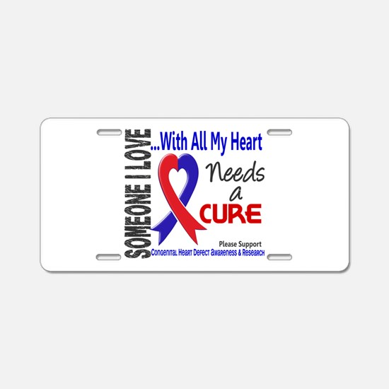 CHD Needs a Cure 3 Aluminum License Plate