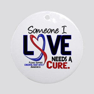CHD Needs a Cure 2 Ornament (Round)