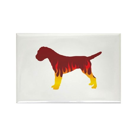 Terrier Flames Rectangle Magnet (100 pack)