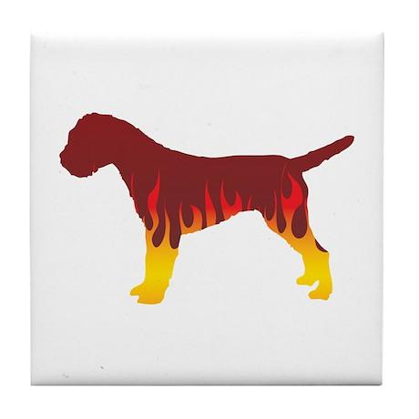 Terrier Flames Tile Coaster