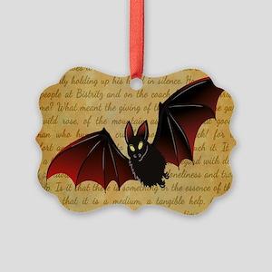 GONE BATTY Picture Ornament