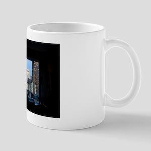 hotel window view Mug