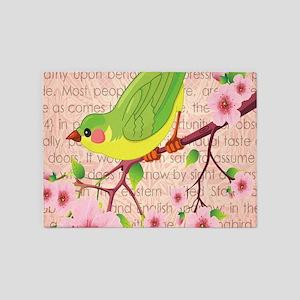 BIRDS & BLOSSOMS 5'x7'Area Rug