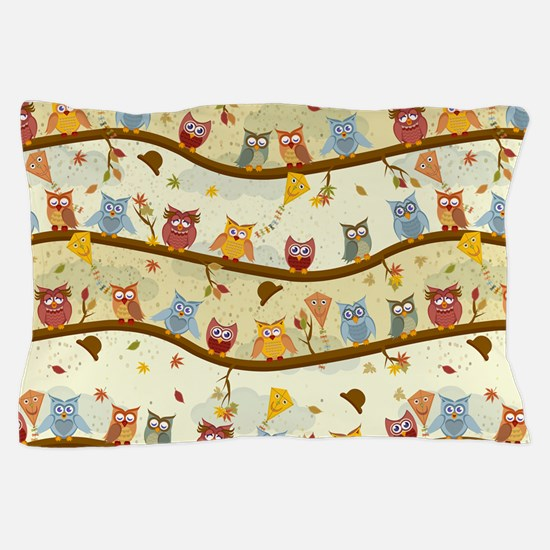 Autumn Owls Pillow Case