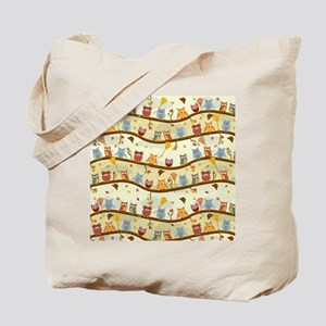 Autumn Owls Tote Bag