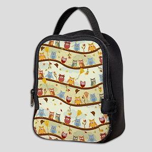 Autumn Owls Neoprene Lunch Bag