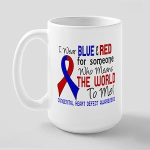 CHD Means World To Me 2 Large Mug