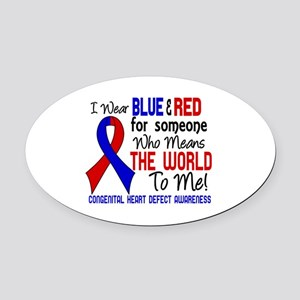 CHD Means World To Me 2 Oval Car Magnet