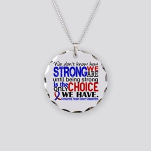 CHD How Strong We Are Necklace Circle Charm