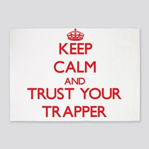 Keep Calm and trust your Trapper 5'x7'Area Rug