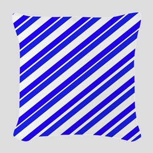 Team Colors 4...Blue Woven Throw Pillow