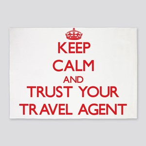 Keep Calm and trust your Travel Agent 5'x7'Area Ru