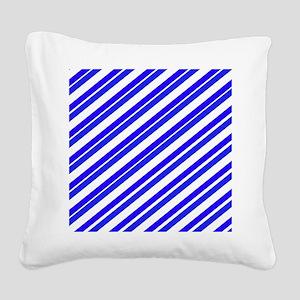 Team Colors 4...Blue Square Canvas Pillow