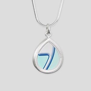 Radiant Magen David Silver Teardrop Necklace