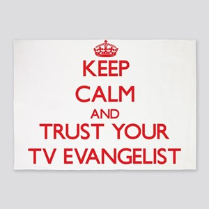Keep Calm and trust your TV Evangelist 5'x7'Area R