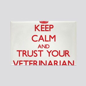 Keep Calm and trust your Veterinarian Magnets