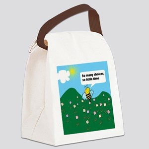 Happy Bee Canvas Lunch Bag
