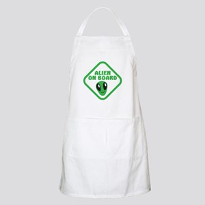Alien on Board with green man Apron