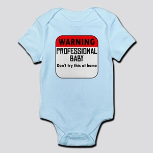 Warning Professional Baby Body Suit