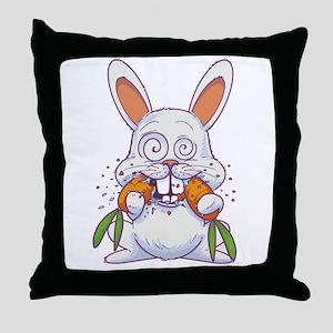 Crazy Rabbit Throw Pillow