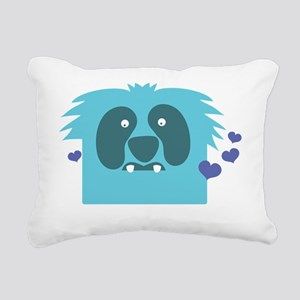 Aqua green monster Kawai Rectangular Canvas Pillow