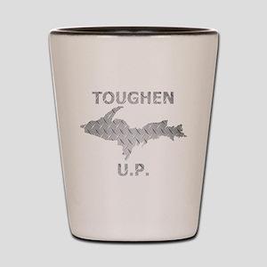Toughen U.P. In Chrome Diamond Plate Shot Glass