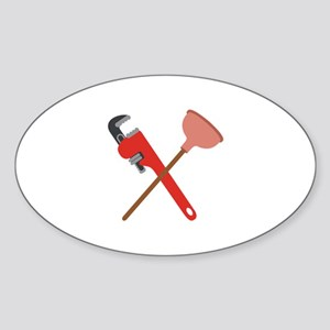 Pipe Wrench Toilet Plunger Sticker