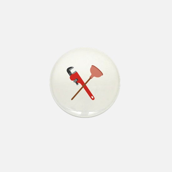 Pipe Wrench Toilet Plunger Mini Button