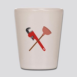 Pipe Wrench Toilet Plunger Shot Glass