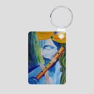 Krishna Aluminum Photo Keychain