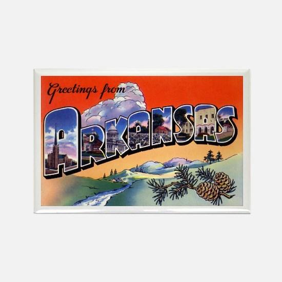 Arkansas Greetings Rectangle Magnet